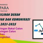 Pendaftaran Calon Dekan Fakultas Dakwah dan Komunikasi 2021-2025