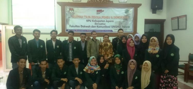 Belajar Tata Kelola Penyelanggaraan Pemilu, Mahasiswa Sambangi KPUD Jepara