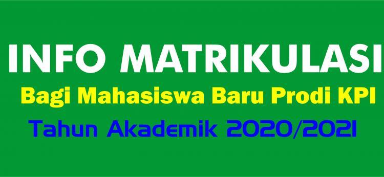 Perkuliahan Matrikulasi TA. 2020/2021